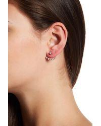 Native Gem - Rose Gold Vermeil Kings Pave Crescent Ear Jackets - Lyst