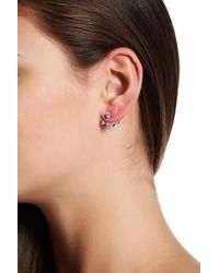 Native Gem Sterling Silver Kings Pave Crescent Ear Jackets - Multicolor