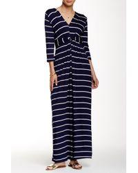 Peach Love California - Striped Maxi Dress - Lyst