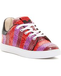 Isa Tapia | Round Toe Lace-up Leather Trainers | Lyst