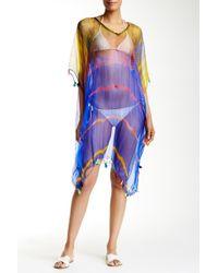 Raj | Tie Dye Long Silk Tassel Caftan | Lyst
