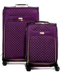 Kensie 2-piece Expandable Quilted Luggage - Purple