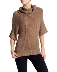 Lavand - Cowl Neck Cable Knit Sweater - Lyst