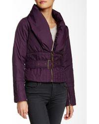 Lavand - Long Sleeve Belted Puffer Jacket - Lyst