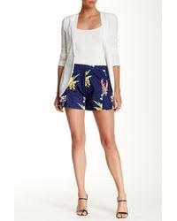 Lavand | Pleated Floral Short | Lyst