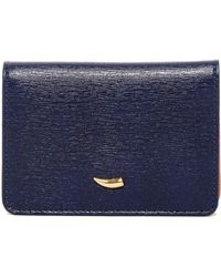 Tusk - Gusseted Safiano Card Case Wallet - Lyst