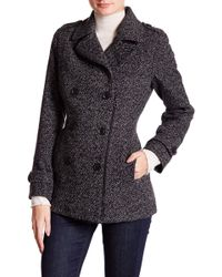 Lucky Brand - Zip Front Wool Blend Peacoat - Lyst