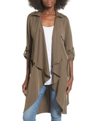 Lovers + Friends - 'Morning View' Drape Coat - Lyst