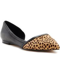 Nicole Miller - Lily Genuine Leather & Genuine Printed Animal Hair D'orsay Flat - Lyst