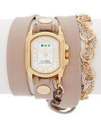 La Mer Collections - Women's Gold Volcano Chain Watch - Lyst