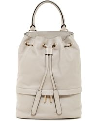 Luana Italy - Theo Leather Bucket Bag - Lyst