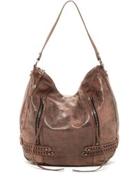 She + Lo Bride Side Leather Hobo Bag - Brown