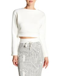 Lime & Vine - Ora Long Sleeve Cropped Pullover - Lyst