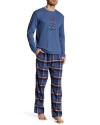 Lucky Brand - Long Sleeve Thermal Crew And Flannel Pant Gift Set - Lyst