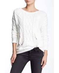 Olive & Oak - Crew Neck Cable Knit Sweater - Lyst