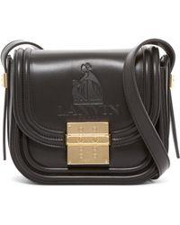 Lanvin Lala Leather Small Crossbody Bag - Black