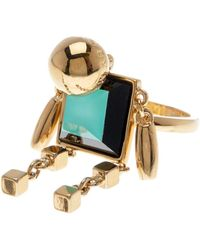 Marc By Marc Jacobs - Block Figurine Ring - Lyst