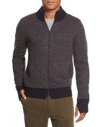 Relwen - Two-tone Knit Zip Jacket - Lyst