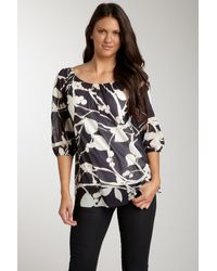 Sweet Pea By Stacy Frati - Printed Peasant Blouse - Lyst