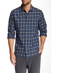 Relwen - Brushed Plaid Worker Long Sleeve Classic Fit Shirt - Lyst
