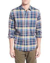 Relwen - 'airtex Madras' Classic Fit Plaid Sport Shirt - Lyst