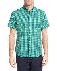 Relwen - Classic Fit Check Short Sleeve Sport Shirt - Lyst