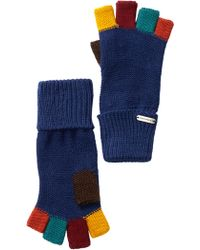 Steve Madden - Colour Block Boyfriend Fingerless Gloves - Lyst