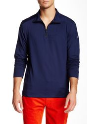 Victorinox - Half Zip Signature Blue Sweater - Lyst