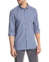 Victorinox - Long Sleeve Plaid Tailored Fit Shirt - Lyst