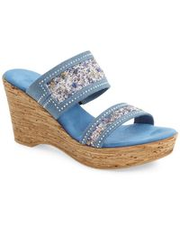 Onex - 'maryann' Slide Wedge Sandal (women) - Lyst