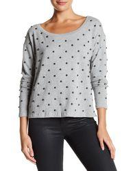 Plenty by Tracy Reese Studded Sweatshirt - Gray