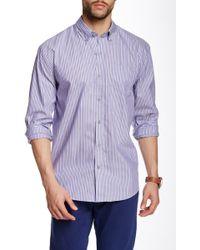 Cutter & Buck - Pinshurst Stripe Long Sleeve Shirt - Lyst