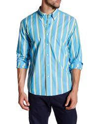 Cutter & Buck - Zagiri Long Sleeve Whitmire Stripe Shirt - Lyst