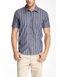 Cutter & Buck - Slim Fit Meyer Stripe Short Sleeve Shirt - Lyst