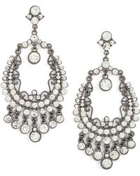 Tasha - Crystal Drop Earrings - Lyst