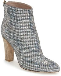 SJP by Sarah Jessica Parker Minnie 100mm Sparkle Sequined Almond-toe Bootie - Grey