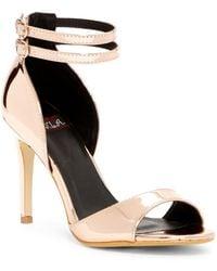 N.y.l.a. - Metallic Ankle Strap Sandal - Lyst