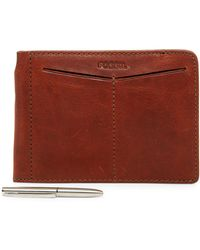 Fossil - Slim Leather Passport Sleeve - Lyst