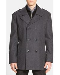 Andrew Marc - Joshua Double Breasted Peacoat - Lyst