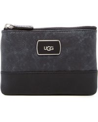 UGG - Classic Leather Trim Mini Wallet - Lyst