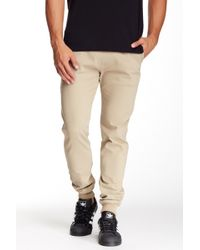 Micros Ace Twill Slim Fit Chino Jogger Pant - Natural