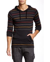 Micros Techno Striped Hoodie - Black
