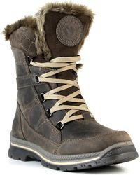Santana Canada - Messie Faux Fur Trim Short Waterproof Boot - Lyst