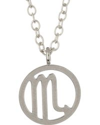 Kris Nations - Sterling Silver Plated Zodiac Circle Pendant Charm Necklace - Lyst