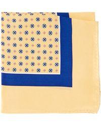 Burma Bibas - Neat Printed Silk Pocket Square - Lyst