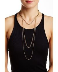 Sparkling Sage - Detailed Open Cuff Layered Chain Choker Necklace - Lyst