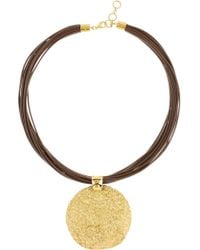 Adami & Martucci - 18k Gold Vermeil & Genuine Leather Cord Necklace - Lyst