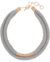 Adami & Martucci - 18k Rose Gold Vermeil Double Strand Mesh Necklace - Lyst