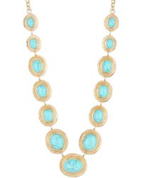 Melinda Maria - 14k Gold Plated Anthony Turquoise Pod Necklace - Lyst