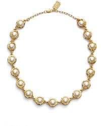 Karine Sultan - Faux Pearl Collar Necklace - Lyst
